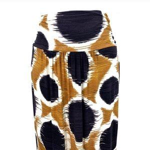 Anthropologie Maeve multicolor pull on maxi skirt